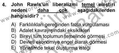 Siyaset Felsefesi 2 Dersi 2012 - 2013 Yılı Ara Sınavı 4. Soru