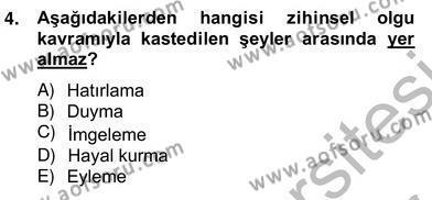 Zihin Felsefesi Dersi 2012 - 2013 Yılı Ara Sınavı 4. Soru