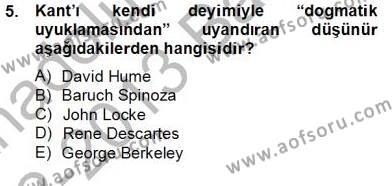 Felsefe Bölümü 8. Yarıyıl Zihin Felsefesi Dersi 2013 Yılı Bahar Dönemi Dönem Sonu Sınavı 5. Soru
