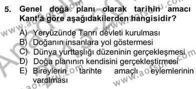 Tarih Bölümü 8. Yarıyıl Tarih Felsefesi II Dersi 2014 Yılı Bahar Dönemi Ara Sınavı 5. Soru