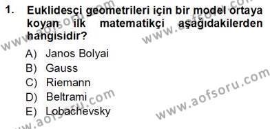 Çağdaş Felsefe 1 Dersi 2012 - 2013 Yılı Ara Sınavı 1. Soru