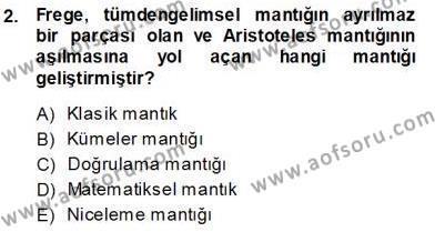 Çağdaş Felsefe 1 Dersi 2013 - 2014 Yılı Ara Sınavı 2. Soru