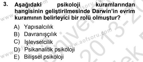 Felsefe Bölümü 7. Yarıyıl Çağdaş Felsefe I Dersi 2014 Yılı Güz Dönemi Tek Ders Sınavı 3. Soru