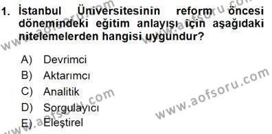 Felsefe Bölümü 7. Yarıyıl Türkiye' de Felsefenin Gelişimi I Dersi 2016 Yılı Güz Dönemi Dönem Sonu Sınavı 1. Soru