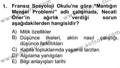 Türkiye´de Felsefenin Gelişimi 2 Dersi 2012 - 2013 Yılı Ara Sınavı 1. Soru