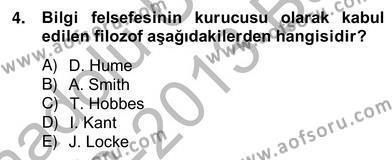 Türkiye´de Felsefenin Gelişimi 2 Dersi 2012 - 2013 Yılı Ara Sınavı 4. Soru