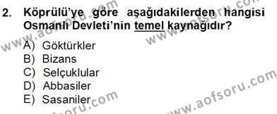 Türkiye´de Felsefenin Gelişimi 2 Dersi 2012 - 2013 Yılı Dönem Sonu Sınavı 2. Soru