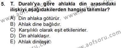 Felsefe Bölümü 8. Yarıyıl Türkiye' de Felsefenin Gelişimi II Dersi 2014 Yılı Bahar Dönemi Tek Ders Sınavı 5. Soru