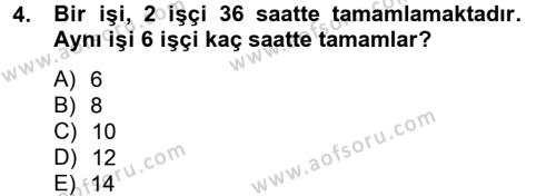 Finans Matematiği Dersi 2012 - 2013 Yılı (Vize) Ara Sınavı 4. Soru