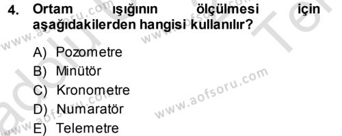 Felsefe Bölümü 5. Yarıyıl Temel Fotoğrafçılık Dersi 2014 Yılı Güz Dönemi Tek Ders Sınavı 4. Soru