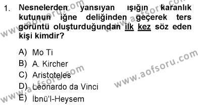 Fotoğrafçılık ve Kameramanlık Bölümü 1. Yarıyıl Fotoğraf Tarihi Dersi 2013 Yılı Güz Dönemi Dönem Sonu Sınavı 1. Soru
