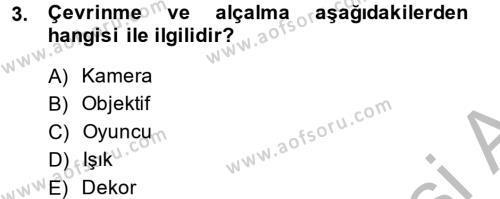 Fotoğrafçılık ve Kameramanlık Bölümü 2. Yarıyıl Film ve Video Kültürü Dersi 2014 Yılı Bahar Dönemi Ara Sınavı 3. Soru