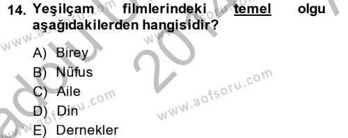 Film ve Video Kültürü Dersi Ara Sınavı Deneme Sınav Soruları 14. Soru