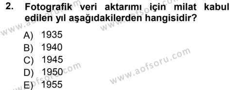 Basın Fotoğrafçılığı Dersi 2012 - 2013 Yılı Dönem Sonu Sınavı 2. Soru