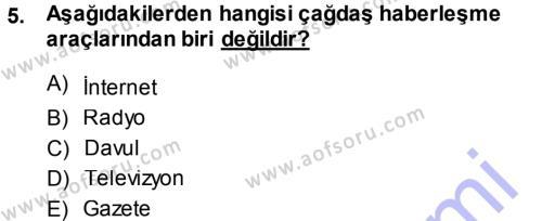 Medya ve İletişim Bölümü 3. Yarıyıl Basın Fotoğrafçılığı Dersi 2014 Yılı Güz Dönemi Ara Sınavı 5. Soru