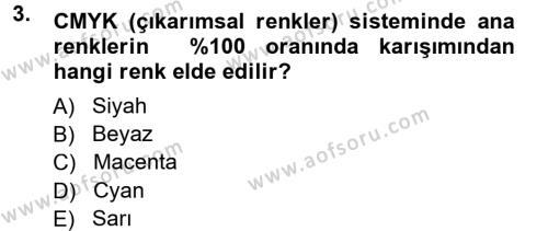 Halkla İlişkiler Uygulama Teknikleri Dersi 2012 - 2013 Yılı Dönem Sonu Sınavı 3. Soru