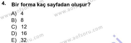 Halkla İlişkiler Uygulama Teknikleri Dersi 2012 - 2013 Yılı Dönem Sonu Sınavı 4. Soru