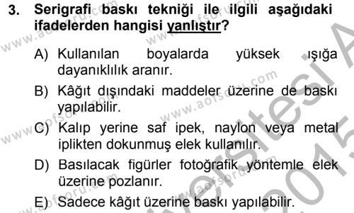 Halkla İlişkiler Uygulama Teknikleri Dersi 2014 - 2015 Yılı Dönem Sonu Sınavı 3. Soru