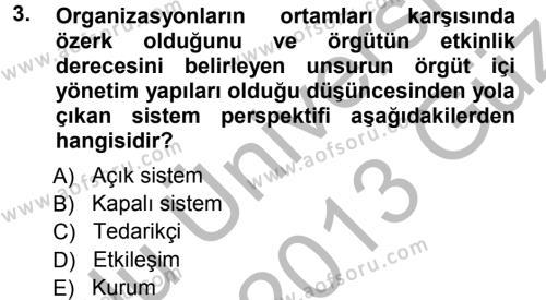 Halkla İlişkiler ve Reklamcılık Bölümü 3. Yarıyıl Halkla İlişkiler Yönetimi Dersi 2013 Yılı Güz Dönemi Ara Sınavı 3. Soru