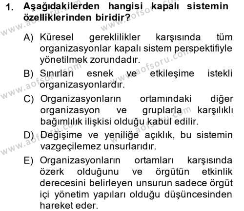 Halkla İlişkiler Yönetimi Dersi 2014 - 2015 Yılı Ara Sınavı 1. Soru