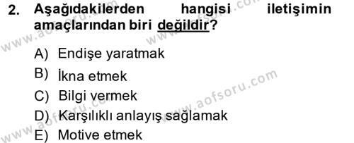 Halkla İlişkiler Yazarlığı Dersi 2013 - 2014 Yılı Dönem Sonu Sınavı 2. Soru