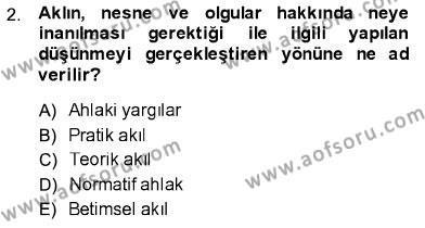 Hukukun Temel Kavramları Dersi 2013 - 2014 Yılı Ara Sınavı 2. Soru