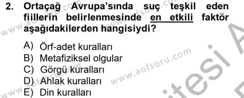 İnfaz Hukuku Dersi 2012 - 2013 Yılı (Vize) Ara Sınavı 2. Soru