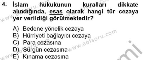 İnfaz Hukuku Dersi 2012 - 2013 Yılı (Vize) Ara Sınavı 4. Soru