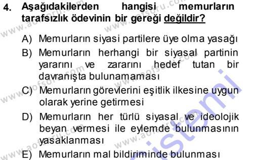 İdare Hukukuna Giriş Dersi 2013 - 2014 Yılı Ara Sınavı 4. Soru