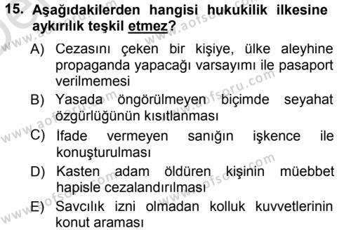 İdare Hukukuna Giriş Dersi 2013 - 2014 Yılı Tek Ders Sınavı 15. Soru 1. Soru