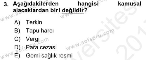 İdare Hukukuna Giriş Dersi 2016 - 2017 Yılı (Final) Dönem Sonu Sınavı 3. Soru