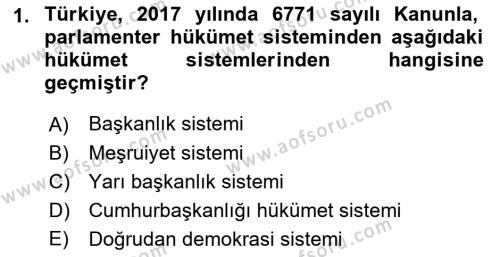 İdare Hukukuna Giriş Dersi 2018 - 2019 Yılı 3 Ders Sınav Soruları 1. Soru