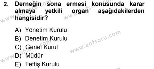 Medeni Hukuk 1 Dersi 2012 - 2013 Yılı Dönem Sonu Sınavı 2. Soru