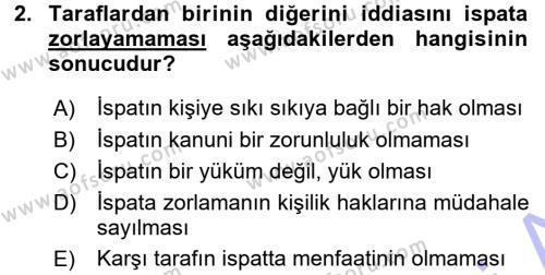 Medeni Hukuk 1 Dersi 2015 - 2016 Yılı (Final) Dönem Sonu Sınavı 2. Soru