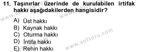 Medeni Hukuk 2 Dersi 2012 - 2013 Yılı Ara Sınavı 11. Soru 1. Soru