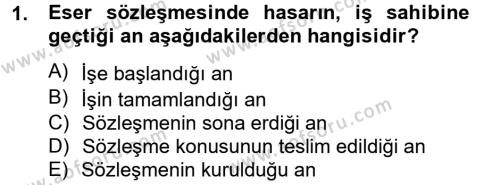 Medeni Hukuk 2 Dersi 2012 - 2013 Yılı (Final) Dönem Sonu Sınavı 1. Soru