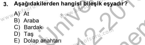 Medeni Hukuk 2 Dersi 2012 - 2013 Yılı (Final) Dönem Sonu Sınavı 3. Soru