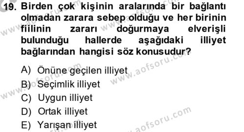 Medeni Hukuk 2 Dersi 2013 - 2014 Yılı Ara Sınavı 19. Soru 1. Soru
