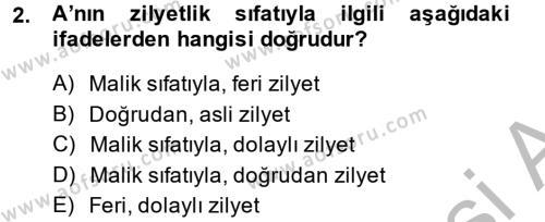 Medeni Hukuk 2 Dersi 2013 - 2014 Yılı (Final) Dönem Sonu Sınav Soruları 2. Soru