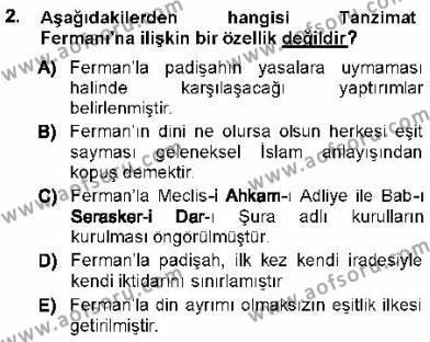 Sosyal Hizmet Bölümü 1. Yarıyıl Türk Anayasa Hukuku Dersi 2013 Yılı Güz Dönemi Ara Sınavı 2. Soru