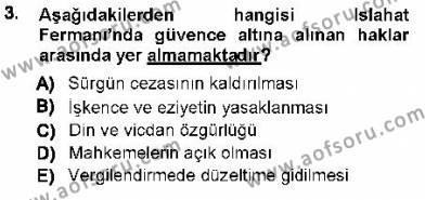Türk Anayasa Hukuku Dersi 2012 - 2013 Yılı Ara Sınavı 3. Soru