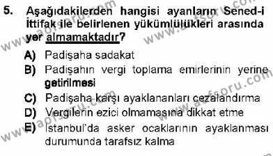 Sosyal Hizmet Bölümü 1. Yarıyıl Türk Anayasa Hukuku Dersi 2013 Yılı Güz Dönemi Ara Sınavı 5. Soru