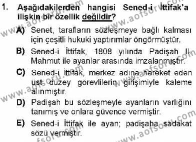 Türk Anayasa Hukuku Dersi 2012 - 2013 Yılı Dönem Sonu Sınavı 1. Soru