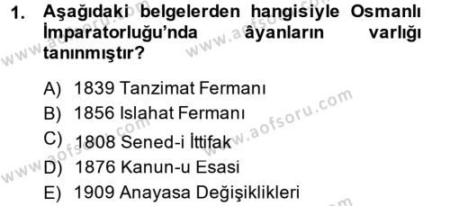Sosyal Hizmet Bölümü 1. Yarıyıl Türk Anayasa Hukuku Dersi 2015 Yılı Güz Dönemi Dönem Sonu Sınavı 1. Soru