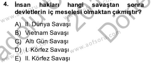 Sosyal Hizmet Bölümü 1. Yarıyıl Türk Anayasa Hukuku Dersi 2015 Yılı Güz Dönemi Dönem Sonu Sınavı 4. Soru