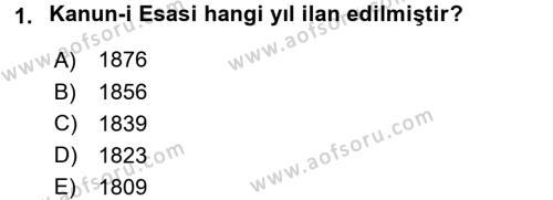Türk Anayasa Hukuku Dersi 2016 - 2017 Yılı 3 Ders Sınavı 1. Soru