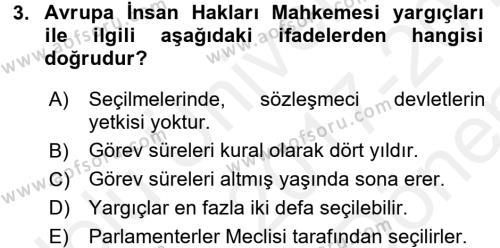 Türk Anayasa Hukuku Dersi 2017 - 2018 Yılı Dönem Sonu Sınavı 3. Soru