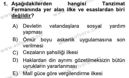 Türk Anayasa Hukuku Dersi 2019 - 2020 Yılı (Vize) Ara Sınav Soruları 1. Soru