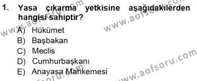 Muhasebe ve Hukuk Dersi 2012 - 2013 Yılı Ara Sınavı 1. Soru