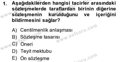 Kamu Yönetimi Bölümü 2. Yarıyıl Borçlar Hukuku Dersi 2014 Yılı Bahar Dönemi Ara Sınavı 1. Soru